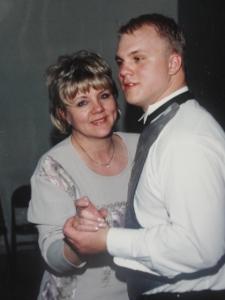 Brandon and his mom dancing 1-20-01